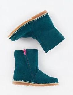 Short Leather Boots - Mallard Suede, what a gorgeous colour!