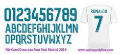Download Gratis File Corel Draw Font Jersey Real Madrid 2018