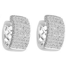 - Majesty Diamonds - 1 CTW Diamond Pave Huggie Hoop Earrings in 14K White Gold, 1,309.00$ (http://www.majestydiamonds.com/1-ctw-diamond-pave-huggie-hoop-earrings-in-14k-white-gold/)