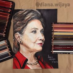 "Hillary Clinton on #Strathmore Bristol Smooth 9x12"" using #Prismacolor #ColoredPencil #hillaryclinton #politician #portrait #drawing #usa #america"