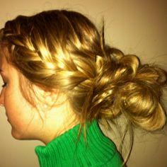 Braid and messy bun  #braid