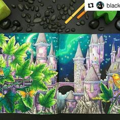 Incrível! #Repost @black_aneri with @repostapp ・・・ Book: #zemljasnova by #tomislavtomic (Yes, you need this book. It's beautiful. ) Pencils: #kohinoor #mondeluz72 #stabilo #stabilo68 #colouring #coloring #colouringforgrownups