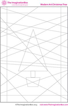 The Imagination Box, Modern Art Christmas Tree free download colouring activity