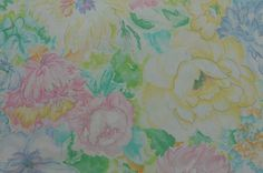 Cotton Floral Fabric Cotton Quilting Fabric Cotton Fabric www.thefabricscore.etsy.com #floral #fabric #sewing #quilting