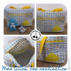 Tutoriel : Mon sac à langer fétiche Couture Bb, Baby Sewing, Diy And Crafts, Kids Rugs, Crochet, Sauce, Inspiration, Babyshower, Articles