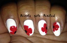 remembrance poppy nail art - Google Search