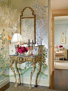 metallic wallpaper décor. Please like http://www.facebook.com/RagDollMagazine and follow @RagDollMagBlog @priscillacita