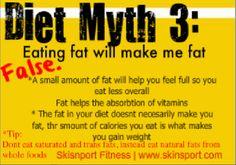 Diet myth 3    Skinsport Fitness Center  www.skinsport.com