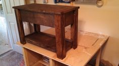 Small storage bench, Or this one for under their windows. Just add a cushion