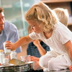 What better way to teach children about food and healthy eating than by letting them help out in the kitchen?  Amanda Haas shares some tips on how to get children involved in cooking.