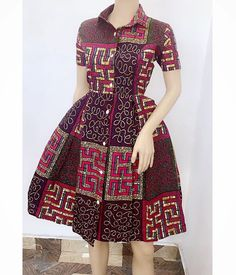 2019 African Fashion Finests: Ankara Short Gown Styles By Diyanu African Dresses For Kids, African Maxi Dresses, Latest African Fashion Dresses, African Print Fashion, African Attire, Ankara Fashion, Fashion Outfits, African Dress Styles, Ankara Gowns