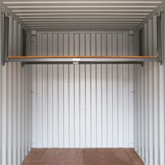 3 Ways to Repurpose Shipping Containers in Times of Crisis Shipping Container Workshop, Shipping Container Storage, Cargo Container Homes, Container Shop, Container Buildings, Container House Design, Lumber Storage Rack, Loft Storage, Shed Storage