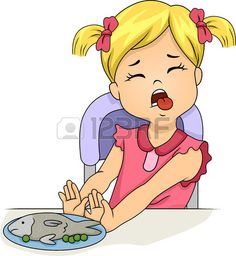 Picture of Illustration of a Grossed Out Little Girl Pushing Away a Plate of Food stock photo, images and stock photography. Little Girl Cartoon, Cartoon Kids, Little Girls, Speech Language Therapy, Speech And Language, Speech Therapy, Math For Kids, Activities For Kids, Drawing Anime Clothes
