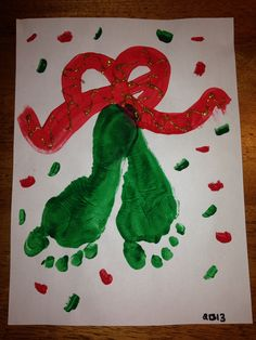 Mistletoe feet,  Christmas kids craft