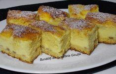 Prajitura cu branza dulce si aluat turnat - Bunătăți din bucătăria Gicuței Romania Food, Romanian Desserts, Tasty, Yummy Food, Cake Cookies, I Foods, Foodies, Sweet Treats, Deserts