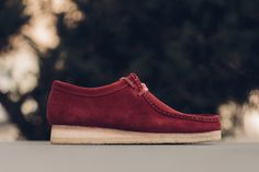 236ab8928 Clarks Wallabee in Burgundy for Winter 2017