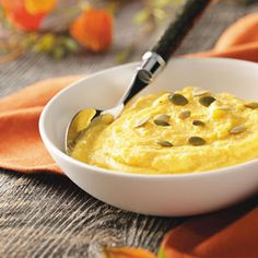 Creamy Pumpkin Polenta  D* & V   For DANIEL omit cream cheese and add 1/4  cup coconut milk or just leave this out!