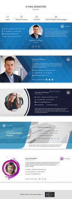 E-Mail Signature - Miscellaneous Web Elements Company Email Signature, Professional Email Signature, Html Email Signature, Email Signature Templates, Email Templates, Signature Ideas, E Signature, Signature Design, Email Footer