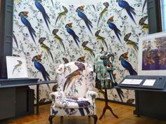 . Back In Time, Parrot, Textiles, Pattern, Painting, Vintage, Google Search, Happy, Patterns