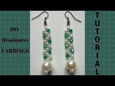 How to make earrings. DIY elegant earrings. Beaded earrings tutorial. - YouTube