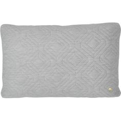 Ferm Living Quilt Cushion With Brass Zipper - Rectangle ($129) ❤ liked on Polyvore featuring home, home decor, throw pillows, gray home decor, gray throw pillows, grey home decor, rectangular throw pillows and grey throw pillows