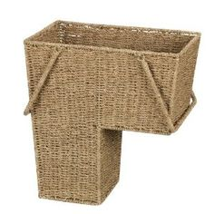 Household Essentials Seagrass Stair Basket with Handle - put stuff in the basket that you need to take up or down the stairs