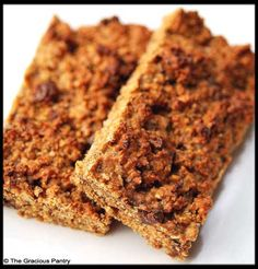 Clean Eating Cinnamon Chocolate Chip Protein Bars: 2 cups oats – roasted in the oven without oil for 10-15  minutes  1 cup peanut butter (no sugar added)  1/2 cup agave (you can also use honey)  1/2 cup apple sauce (unsweetened)  2 tbsp. grain sweetened chocolate chips  1 cup whey protein powder (unflavored or vanilla)  1 tbsp. cinnamon  2 tbsp. chia seeds