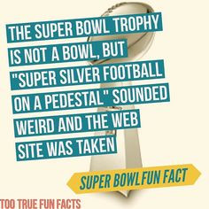Super Bowl Fun Facts #1 #superbowl #superbowl50 #football #sports #trivia #facts #funfacts #funny #funnypics #satire #parody