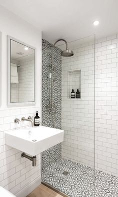 small bathroom, Choosing bathroom flooring is far different from choosing flooring in other parts of the house bathroom ideas with shower 15 Ways to Refresh Your White Bathroom With Style Bathroom Tile Designs, Bathroom Design Small, Modern Bathroom, Bathroom Ideas, Bathroom Organization, White Bathrooms, Small Bathrooms, Shower Ideas, Neutral Bathroom