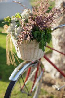 # Spring Wedding spring weddings, bicycl, basket, flower