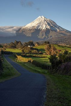 Flickr photo find. Taranaki dawn | by caroldarby Beautiful Roads, Beautiful Photos Of Nature, Beautiful Nature Wallpaper, Beautiful Streets, Beautiful Landscapes, Beautiful Places, Wonderful Places, Iran Pictures, Scenery Pictures