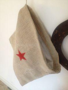 Recycling / Laundry bag !!!  #vintage #grainsack #stars