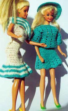 Summer blouse and skirt for Barbie crochet.