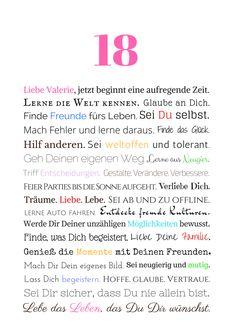 Gedicht Zum 18 Geburtstag Was Mir Gefallt Pinterest Happy