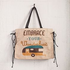 This is the cutest travel tote bag! Embrace your wanderlust.