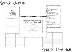 Speech Time Fun: Speech Journals!  Great for older fluency students!!