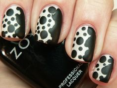 cool fashionista black and white dots