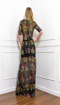 VESTIDO LONGO TELA BORDADA - VE30146   Skazi, Moda feminina, roupa casual, vestidos, saias, mulher moderna