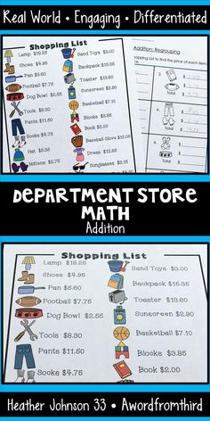 This is a great resource for differentiated real world money practice. Special Education Math, Music Education, Homeschool Math, Homeschooling, Math Magic, Effective Learning, Math Projects, Math Addition, Middle School Teachers