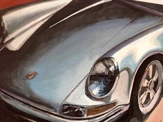 In The Headlights 100*70 холст, акрил by @alexlemish #новыйцвет #картина #newcolordesign #newcolor #porsche #paint #painting  #рисуем #порше #sportcar #art #porscheart #porscheclassic #carart  #911 #живопись #instacar #carsart #classiccars #classic #moscow #porscheclub