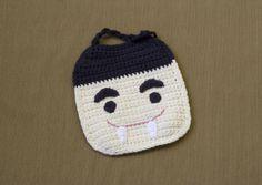 Count D. Bib - free crochet pattern