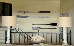 Love the paddles on the walls - reminds me of the paddle on my bedroom wall!