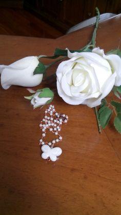 Farfalla di ceramica e perline