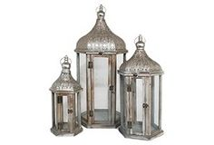 Three Hands Lanterns.  Like the shape and style of some of their decor.