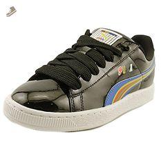 Puma Basket X Dee   Ricky BW Women US 7 Black Sneakers - Puma sneakers for 2ab3372714e