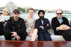 From left: Daniel Arsham, Juliette Lewis, Waris Ahluwalia, and Mike Figgis.
