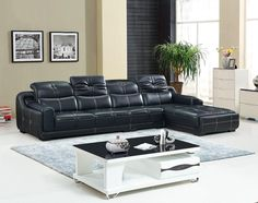 Chaise Sectional Leather Recliner