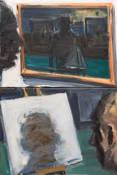 EUAN MACLEOD (b.1956), Looking at Paintings, oil on canvas (diptych), 38 x 51 cm (each)