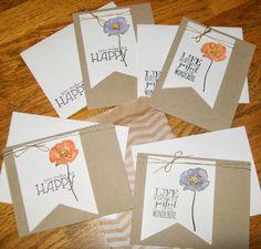 Hostess Card Set for January www.crazystampinglady.blogspot.com Maureen Rauchfuss