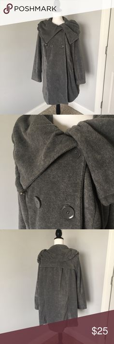 Women Within Grey Double Breasted Jacket This is in great condition, only worn a few times! It is a size large in women within which translates to 16/18. Offers welcomed! Women Within Jackets & Coats